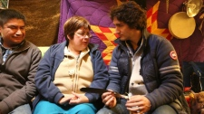 Justin Trudeau meets Theresa Spence
