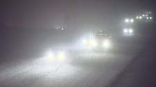 Heavy snow falls in Barrie, Ont. on Wednesday, Dec
