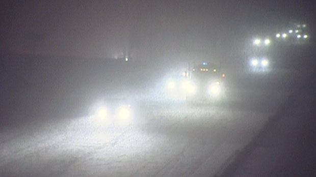 Heavy snow falls in Barrie, Ont. on Wednesday, Dec. 26, 2012.