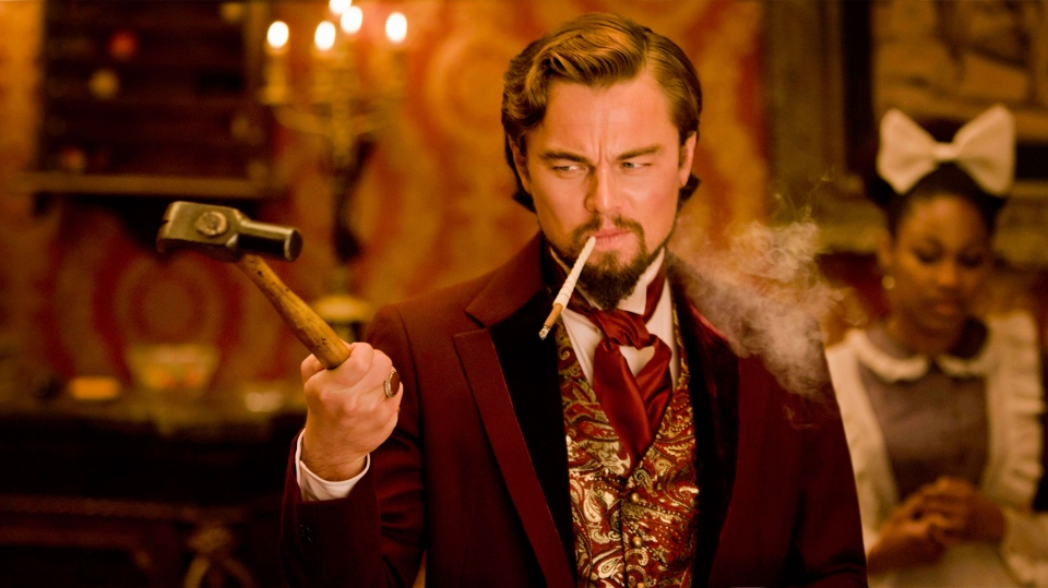 Leonardo DiCaprio in a scene from The Weinstein Company's 'Django Unchained'.