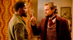 Jamie Foxx and Leonardo DiCaprio in a scene from The Weinstein Company's 'Django Unchained'.