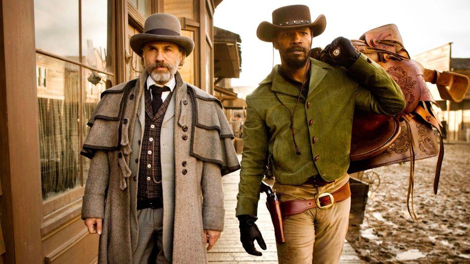 Christoph Waltz and Jamie Foxx in a scene from The Weinstein Company's 'Django Unchained'.