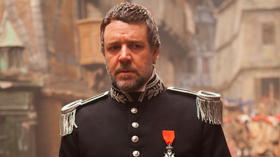 Russell Crowe in a scene from Universal Pictures' 'Les Miserables'