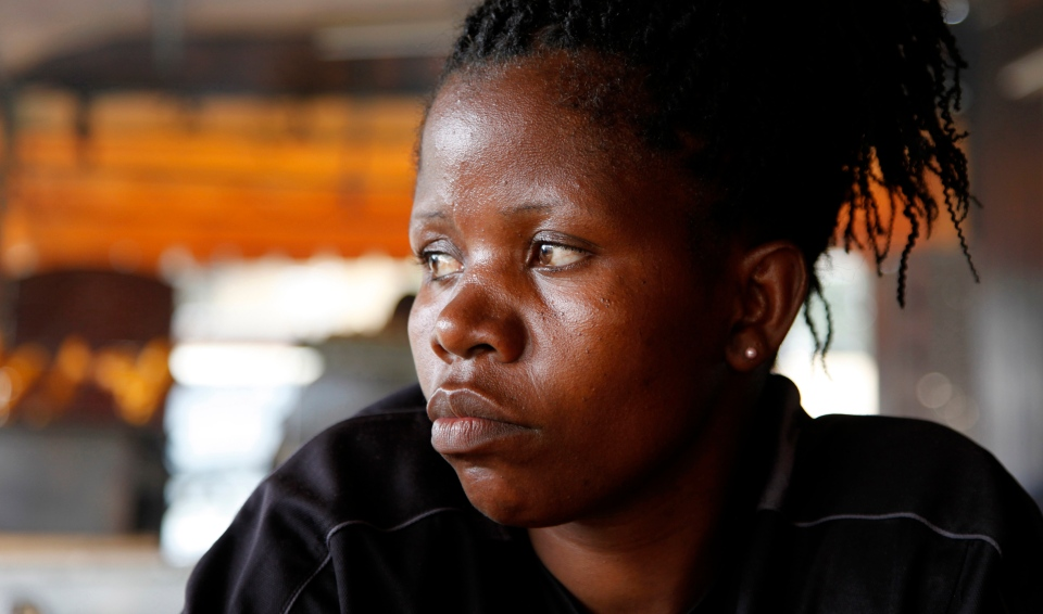 Margaret Anyoso, 35, speaks to The Associated Press In Nairobi, Kenya, Friday, Dec. 14, 2012. (AP / Sayyid Azim)