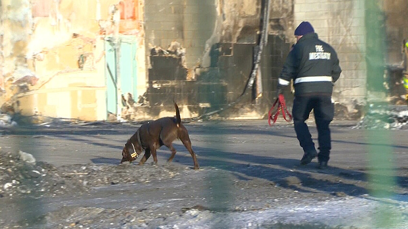 A dog was brought in Thursday, to help investigators determine if accelerants were used to start the fire.