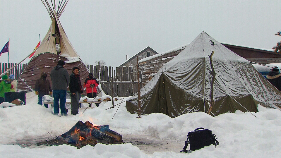 Supporters of Chief Theresa Spence have been visiting her camp on an island in the Ottawa River since she started her hunger strike.