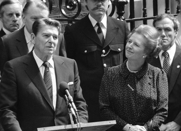 Britain's Prime Minister Margaret Thatcher