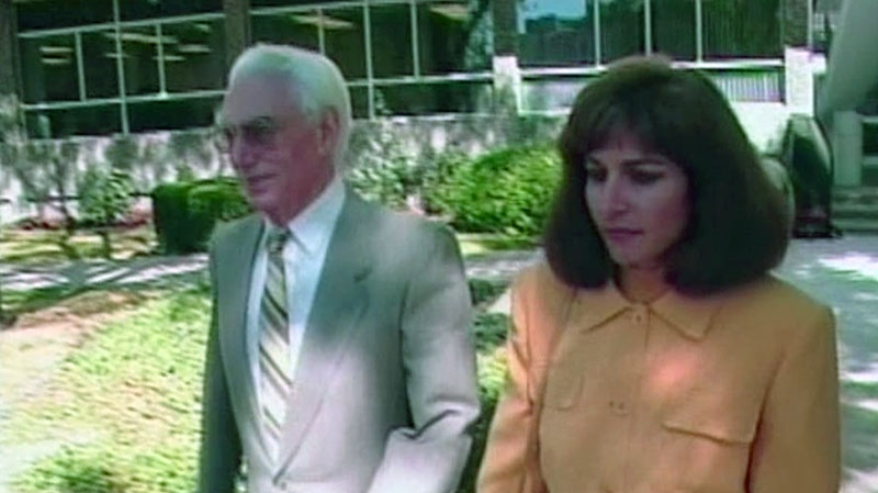 Helmut Oberlander is seen walking out of a courthouse in Kitchener, Ont., in this undated file photo.
