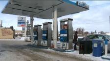 Calgary gas station