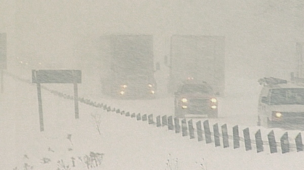 Areas north of the GTA have received up to 80 cm of snow over the last several days, Tuesday, Dec. 7, 2010.