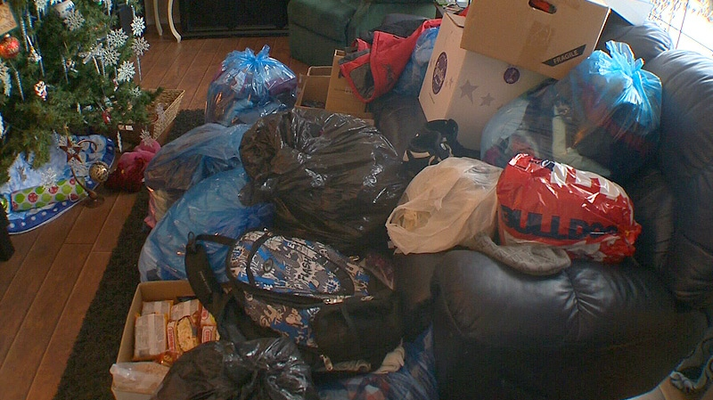 Donations have flooded in since Michelle Kuczkowski put out the call on Facebook, she said her family is now organizing what they've received to give to the family when they come home.