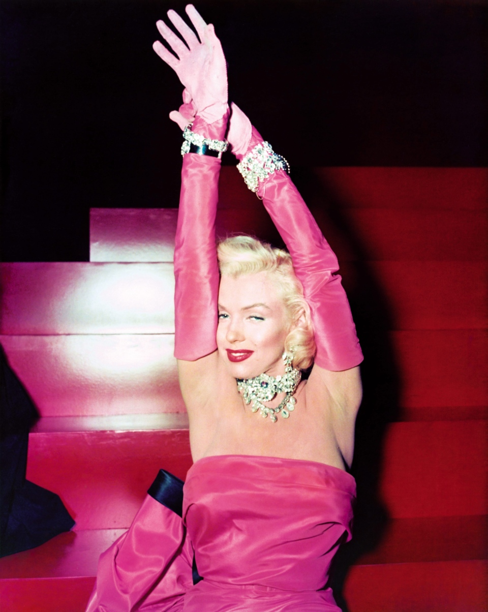 "Marilyn Monroe is shown on set in the film ""Gentlemen Prefer Blondes."" (Courtesy Running Press)"