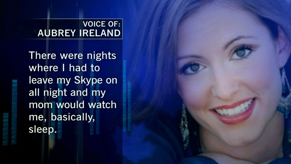 Aubrey Ireland claimed her parents were too controlling, getting a court order against them for stalking.