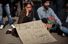 India rape victim protest