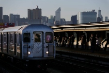 N.Y. police detain subway pushing suspect