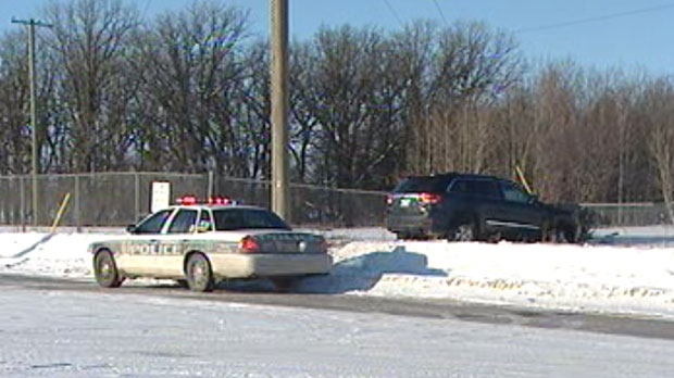 This SUV slid into a fence on Saskatchewan Avenue Saturday afternoon.