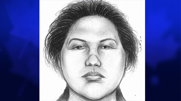 In this image provided by the New York City Police Department, a composite sketch showing the woman believed to have pushed a man to his death in front of a subway train on Thursday, Dec. 27, 2012 is shown. (AP / New York City Police Department)