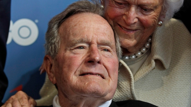 George H.W. Bush, intensive care, hospitalized