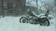 The motorcycle riding season is officially over. The bike would have to come off the road on Dec. 15, since there are no certified winter tires for on-road use. (Dec. 7, 2010)