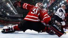 Team Canada goalie Malcolm Subban