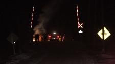 Protesters block CN rail line