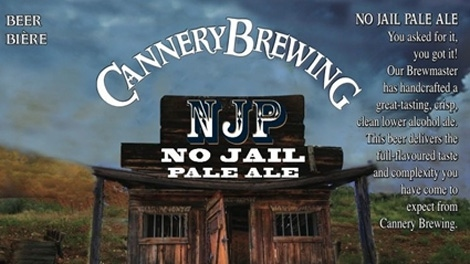 The No Jail Pale Ale was unveiled in Penticton, B.C., on Tuesday, Dec. 7, 2010. (Cannery Brewing Company)