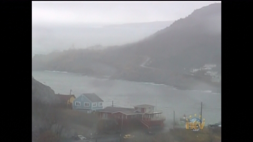 Mist rises from a harbour in St. John's, N.L., as a witner storm tracks toward central Newfoundland on Monday, Dec. 31, 2012.