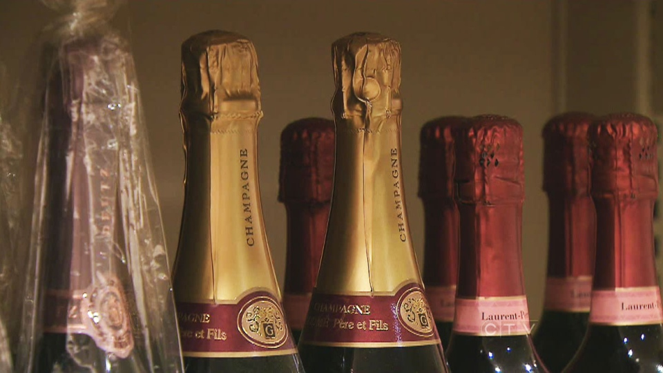 Champagne is seen at a LCBO in Toronto on Monday, Dec. 31, 2012. Next year shoppers could buy their bubbly at their local grocery store.