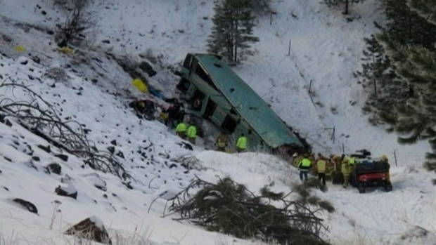 Mounties notify next-of-kin in Oregon bus crash