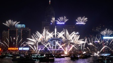 Hong Kong celebrates New Year's Day