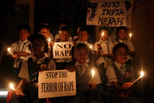 India protest gang rape