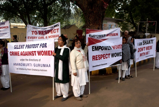 Indian gang rape protest
