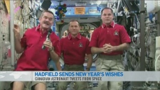 Hadfields message from space
