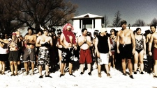 Polar Bear dip in Toronto