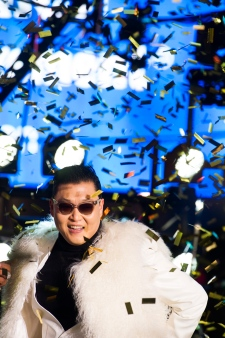 Psy performs in Times Square