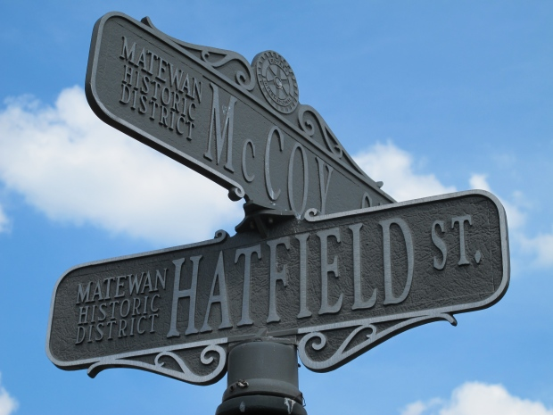 Hatfield-McCoy street sign