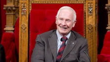Governor General David Johnston smiles as he waits
