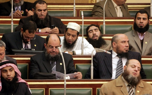 Egyptian parliament session in 2012