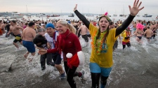 Polar bear plunge in B.C.