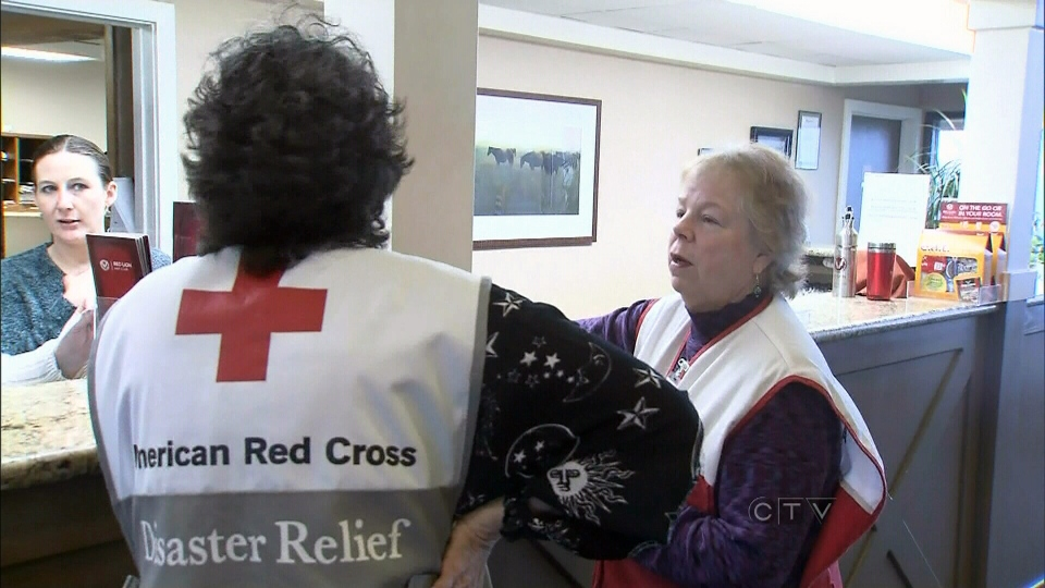 Pendleton, Ore. Red Cross volunteers have been providing food, clothing, mental health services and shelter to the bus crash survivors.