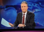 "Television host Jon Stewart is shown during a taping of ""The Daily Show with Jon Stewart"" in New York in this November 2011 file photo. (AP / Brad Barket)"