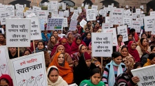 Indian women protest rape