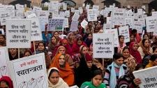 Indian women protest rape