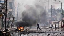 Syria mortar shell
