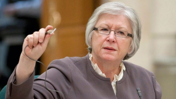 Auditor General Sheila Fraser appears at Commons public accounts committee hearing on Parliament Hill in Ottawa, Tuesday Dec. 7, 2010. (Adrian Wyld / THE CANADIAN PRESS)