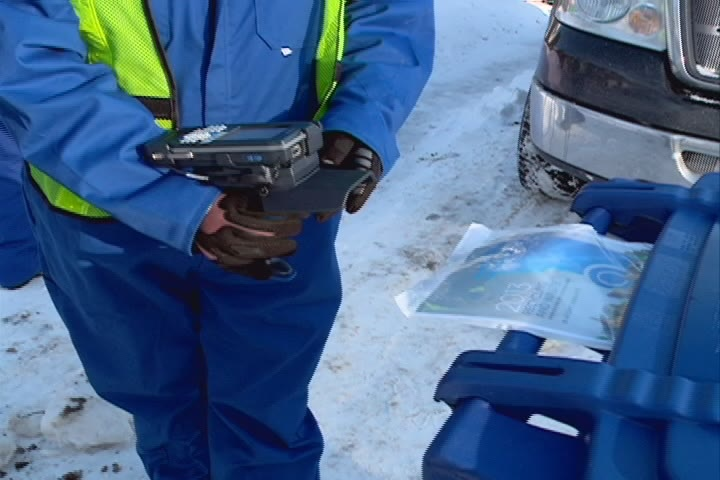 The delivery of blue bins to Saskatoon residences is expected to continue until June.