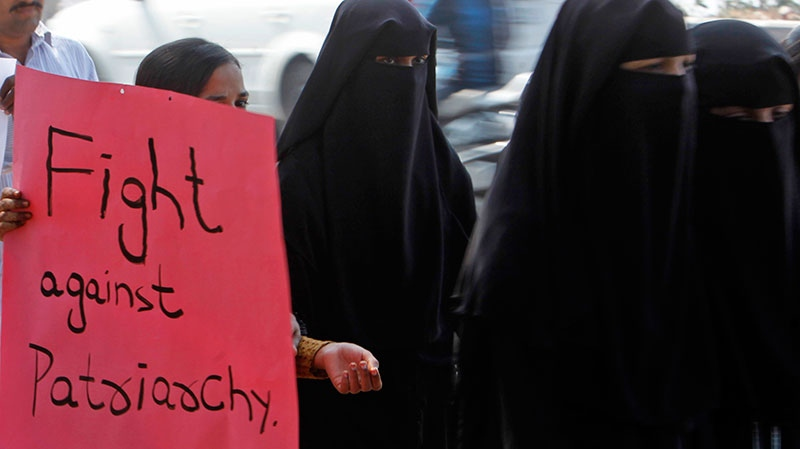Indian women participate in a march to mourn the death of a gang rape victim in Hyderabad, India, Thursday, Jan. 3, 2013. (AP / Mahesh Kumar A.)
