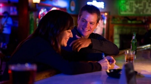 Rosemarie DeWitt and Matt Damon in a scene from Focus Features' 'Promised Land'.