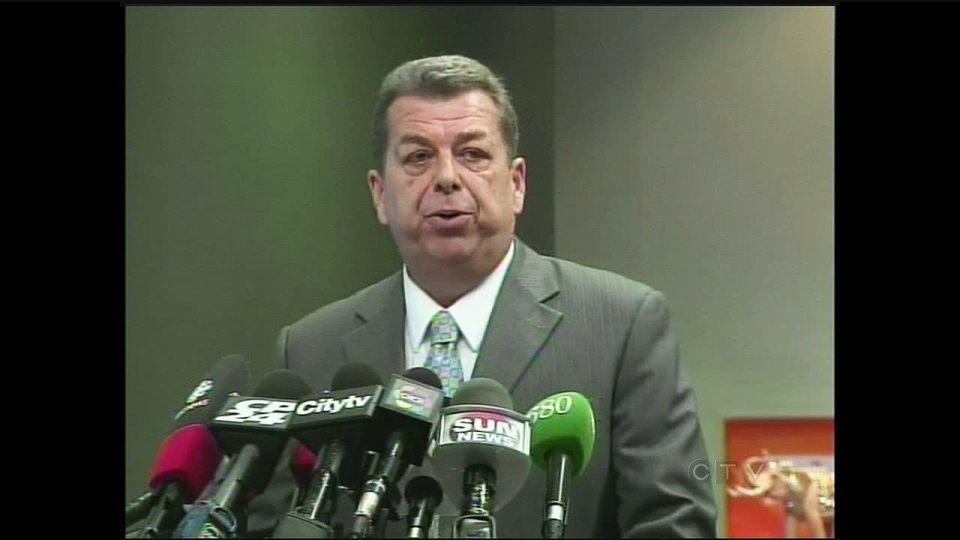 Elementary Teachers Federation of Ontario president Sam Hammond speaks to reporters in Toronto on Thursday, Jan. 3, 2013. (CTV Kitchener)