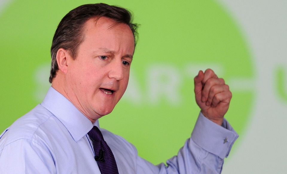British Prime Minister David Cameron speaking to entrepreneurs at a PM Direct event at The Media Factory, Preston northwest England Thursday, Jan. 3, 2013. (AP / Martin Rickett / PA)